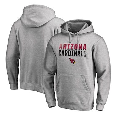 Arizona Cardinals NFL Pro Line by Fanatics Branded Iconic Collection Fade Out Pullover Hoodie - Ash