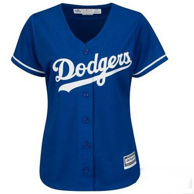 Los Angeles Dodgers Majestic Women's Cool Base Jersey - Royal -
