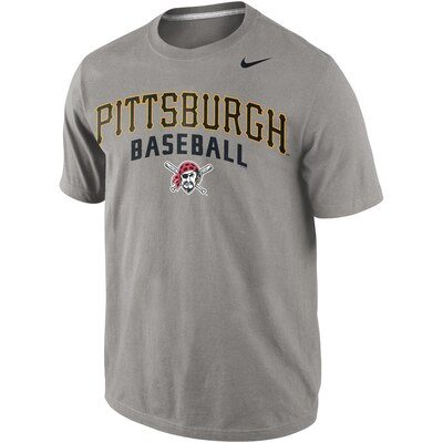Pittsburgh Pirates Nike Away Practice T-Shirt - Gray