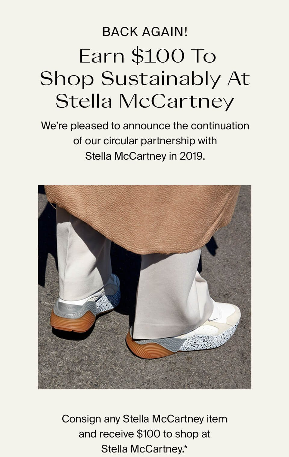 Back Again! Earn $100 To Shop Sustainably At Stella McCartney*