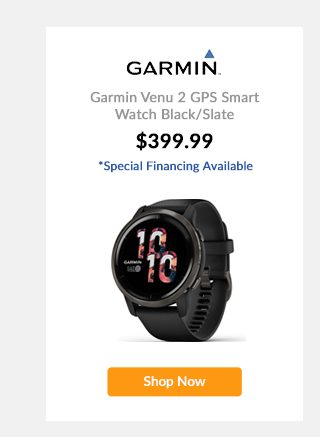 Garmin Venu 2 GPS Smart Watch Black/Slate