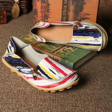 Big Size Colorful Pattern Flats