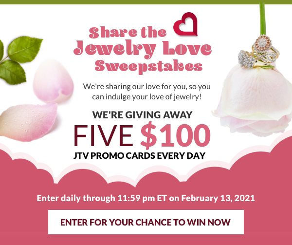Enter our sweepstakes for a chance to win $100 JTV promotional card!