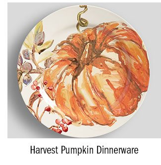 Harvest Pumpkin Dinnerware