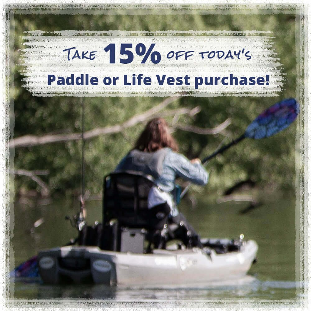Take 15% off today's Paddle or Life Vest purchase Promo Code: SAFETY1ST