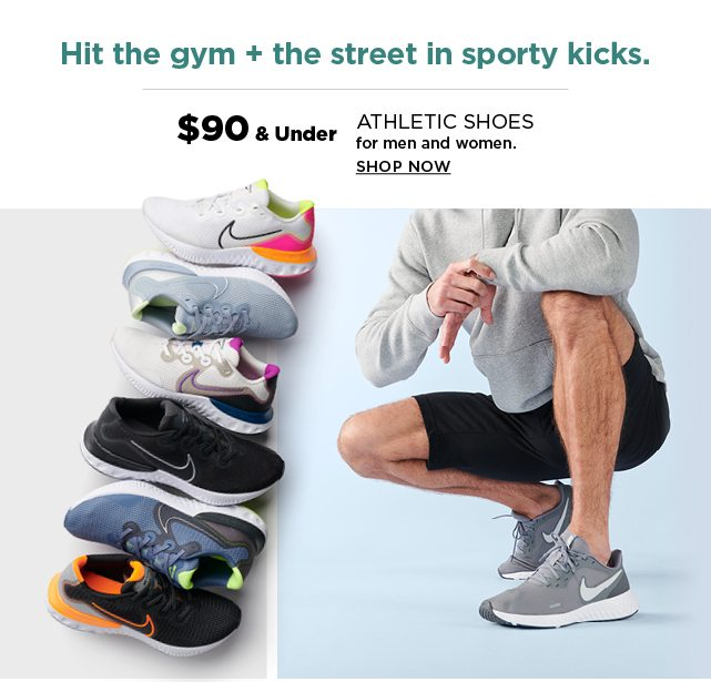 $90 and under athletic shoes for men and women. shop now.