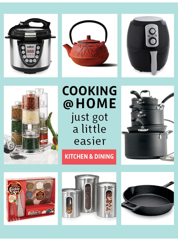 cooking @ home just got a little easier - kitchen & dining