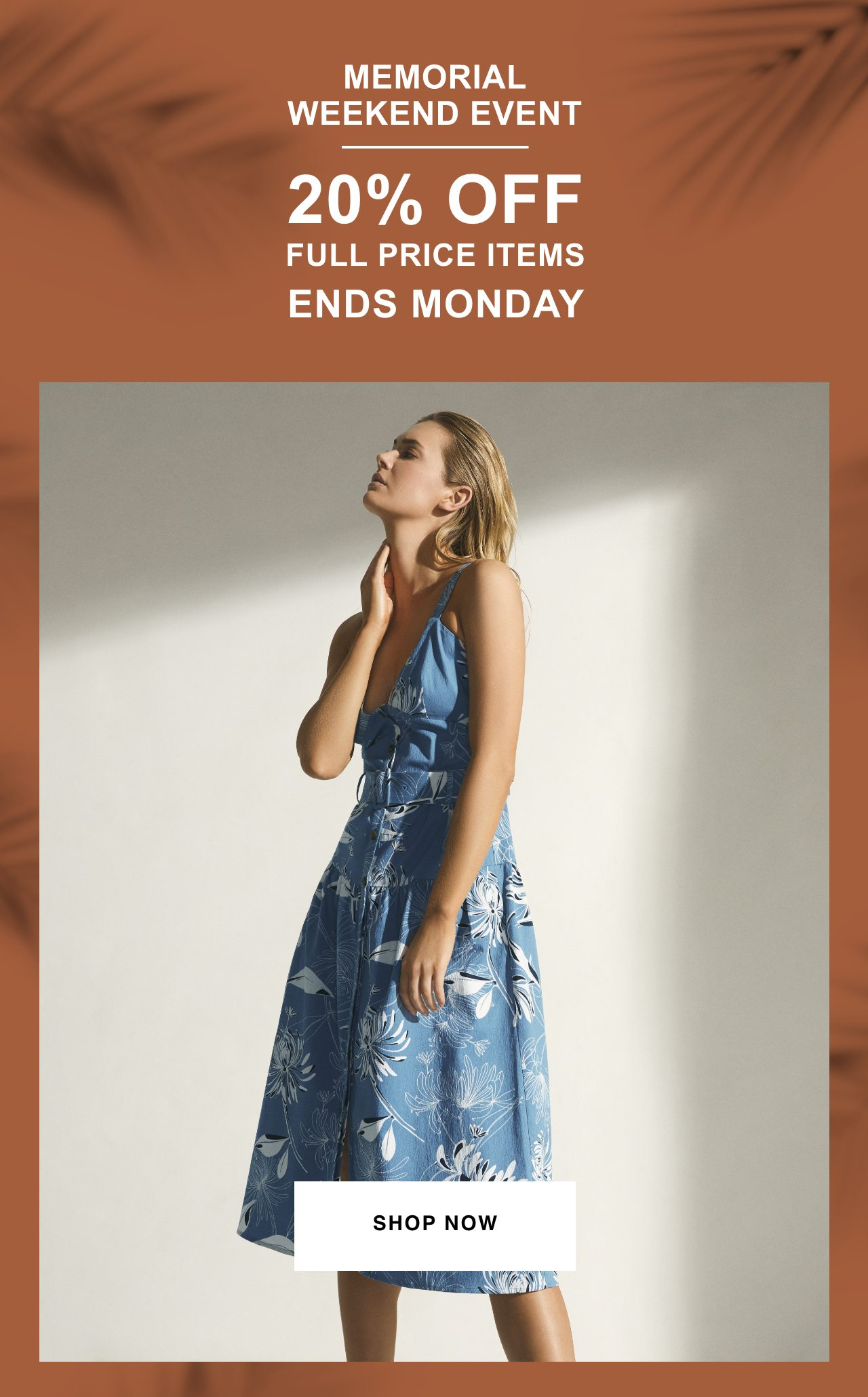 Memorial Weekend Event - 20% Off Full Price Items - Ends Monday