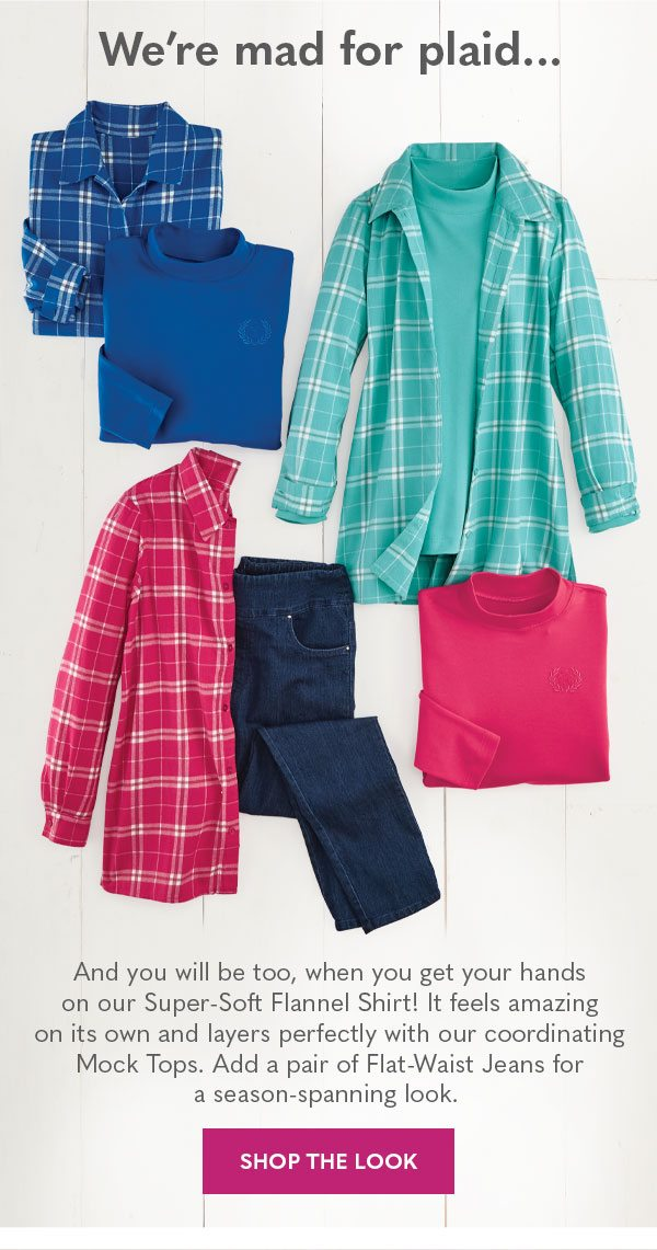 Shop women's plaid looks