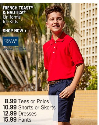 Shop French Toast & Nautica Uniforms for Kids