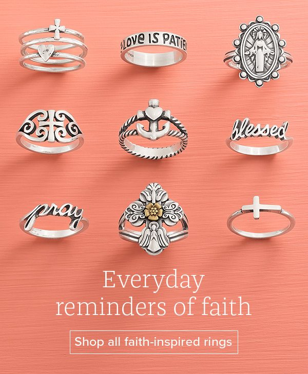 Everyday reminders of faith - Shop all faith-inspired rings