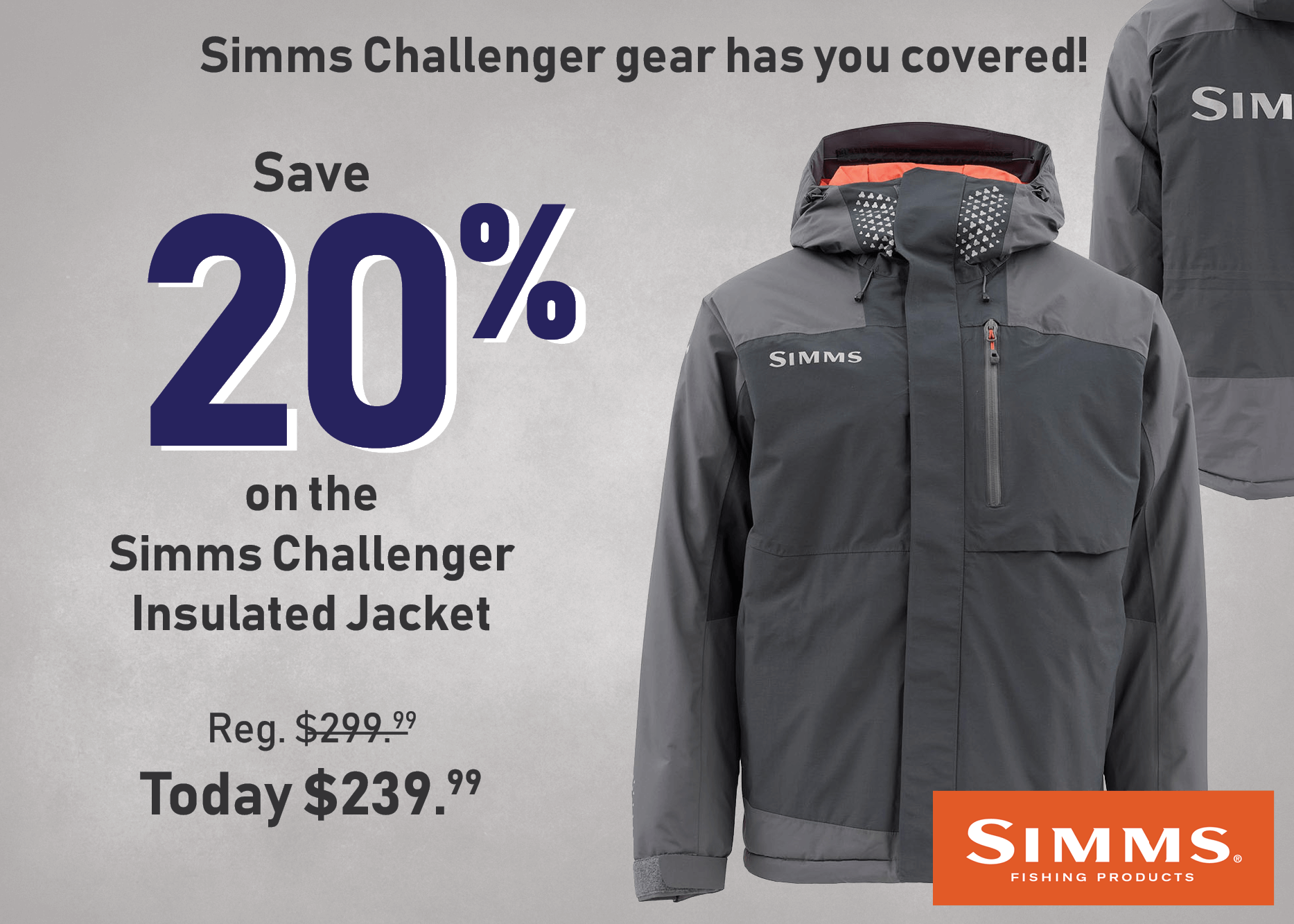 Save 20% on the Simms Challenger Insulated Jacket