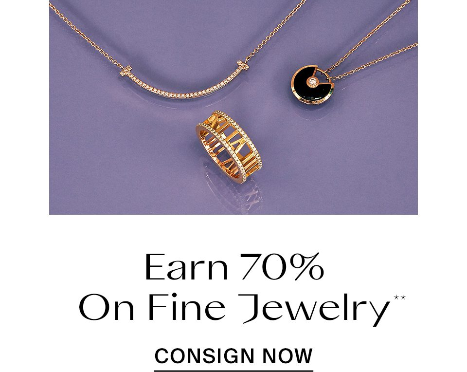 Earn Up To 70% On fine Jewelry**