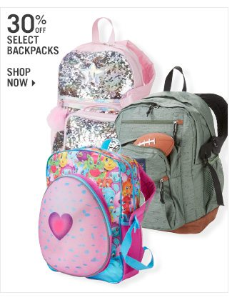 Shop 30% Off Select Backpacks