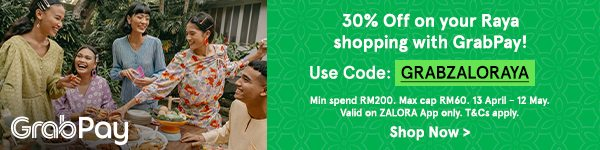 Get 30% Off your Raya shopping with GrabPay!