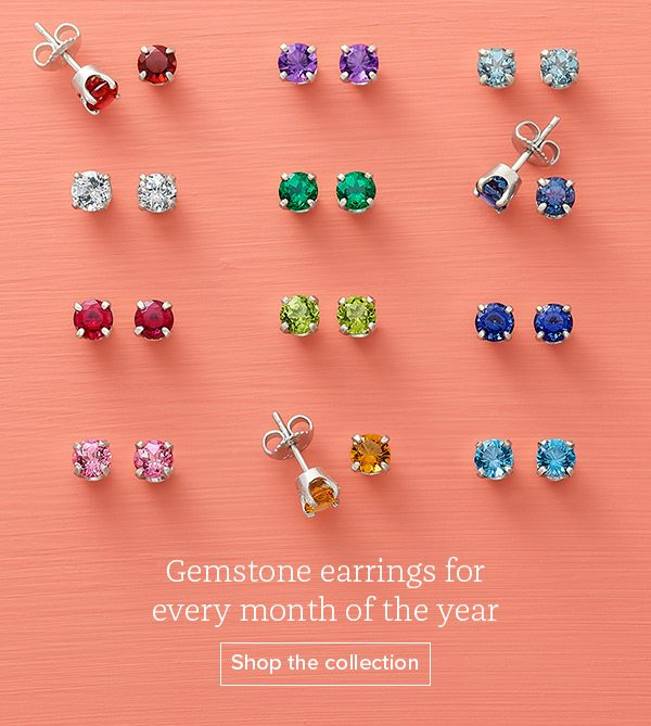 Gemstone earrings for every month of the year - Shop the collection