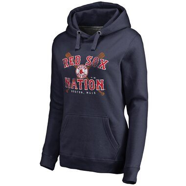 Boston Red Sox Women's Hometown Collection Boston Bats Pullover Hoodie - Navy