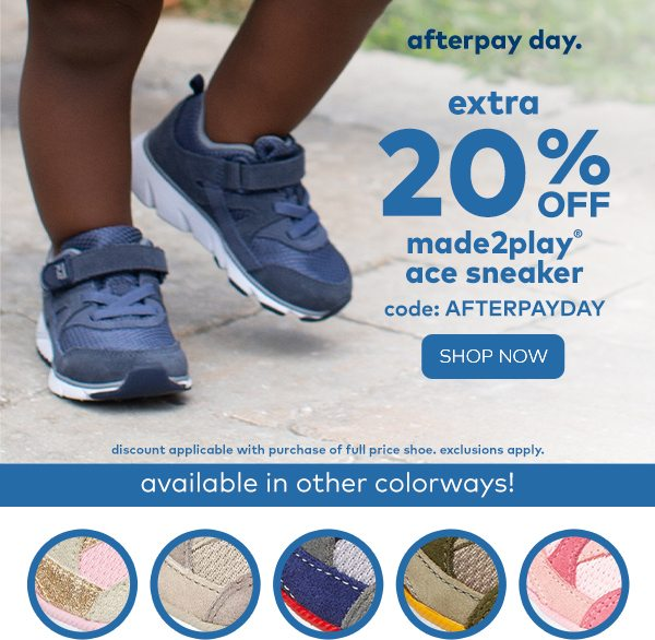 Afterpay Day Starts Now! Extra 20% Off
