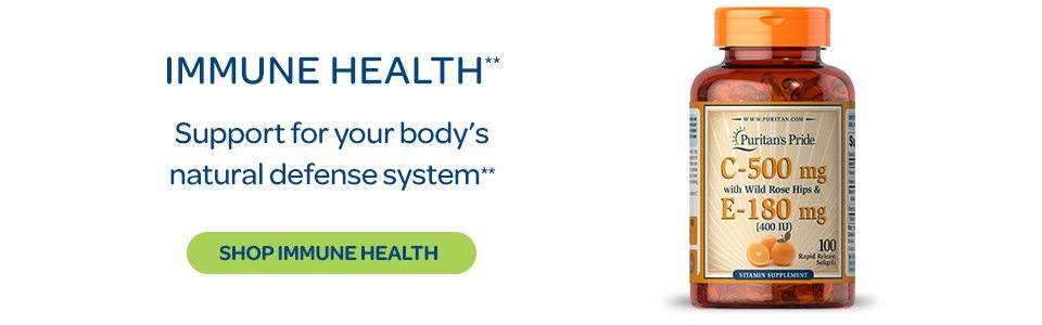Immune Health - Support your body's natural defense system.** Shop Immune Health.