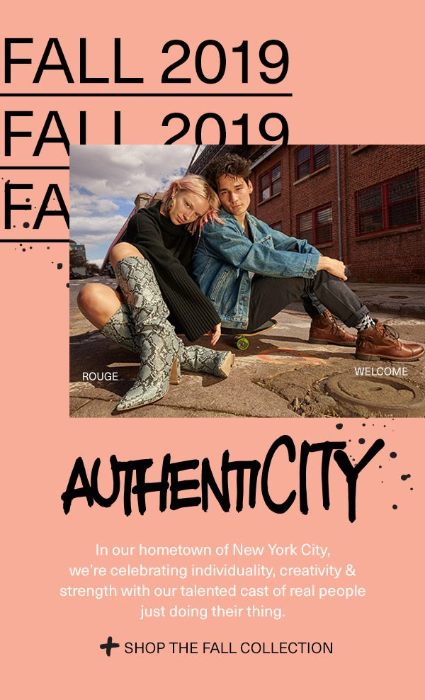 AuthentiCITY. Shop the fall collection