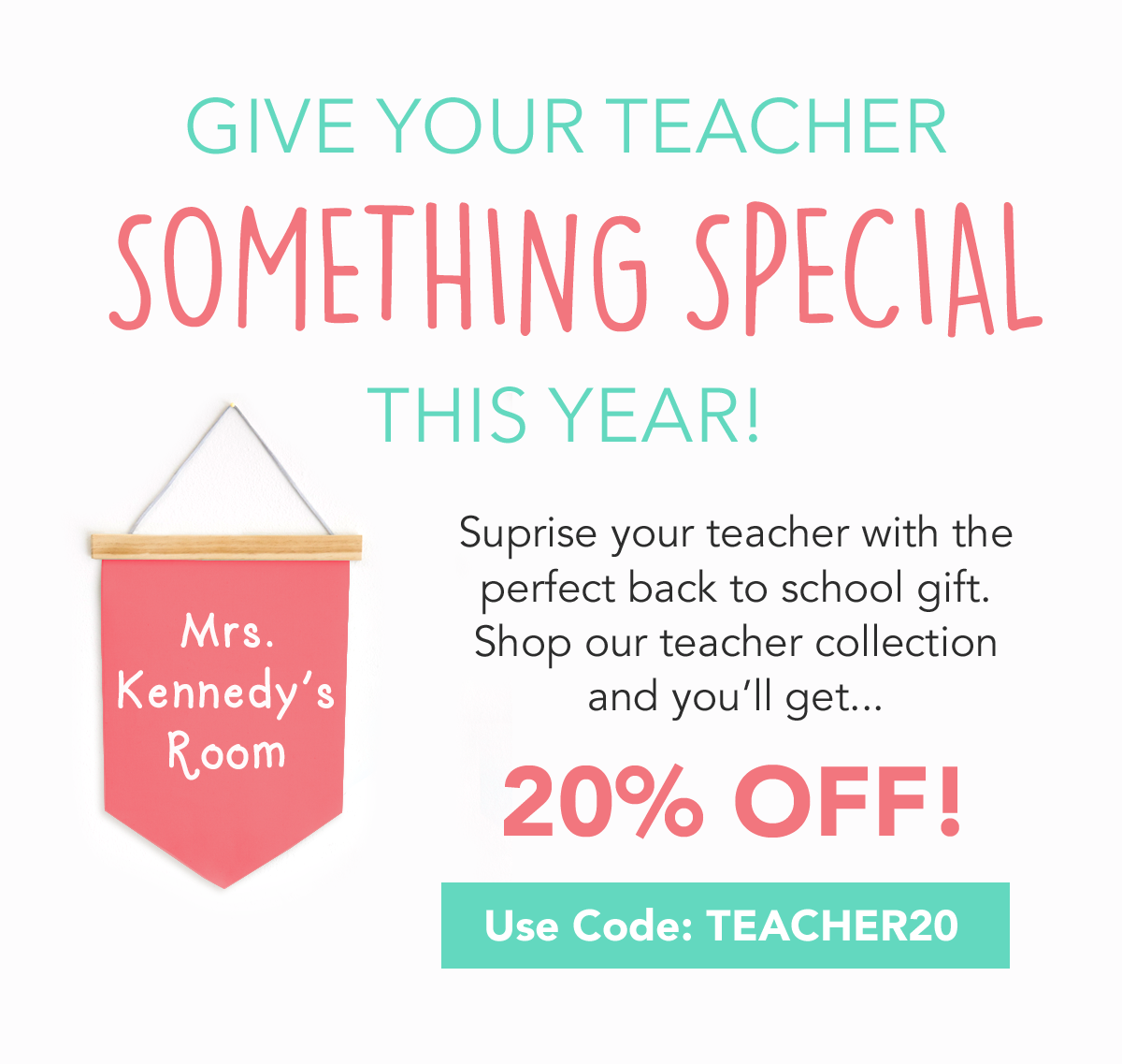 Last Chance to Shop Our Teacher Collection Sale - Label