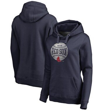 Boston Red Sox Fanatics Branded Women's Cooperstown Collection Slider Pullover Hoodie – Navy