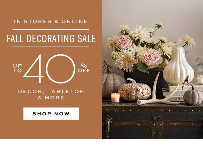 FALL DECORATING SALE UP TO 30% OFF