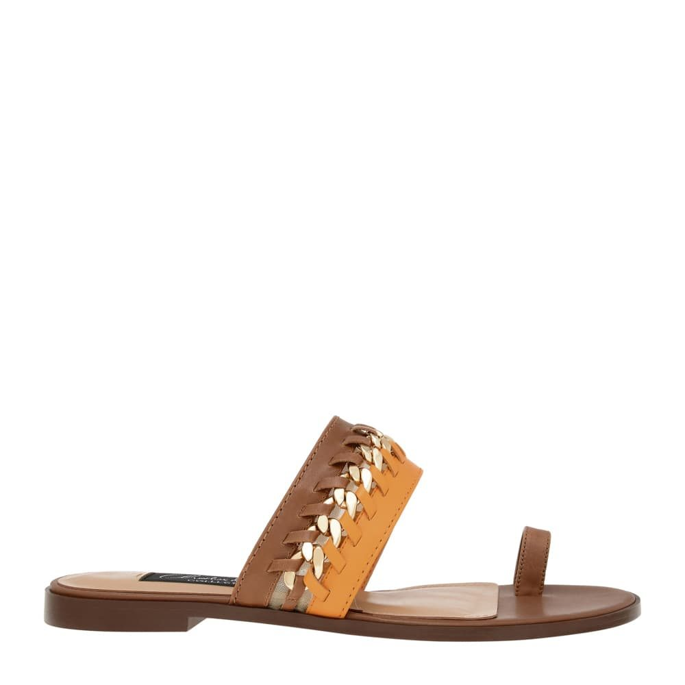 Leather Chain Link Sandals