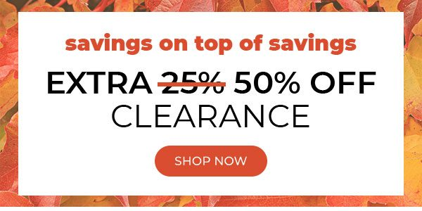 Extra 50% off Clearance - Turn on your images