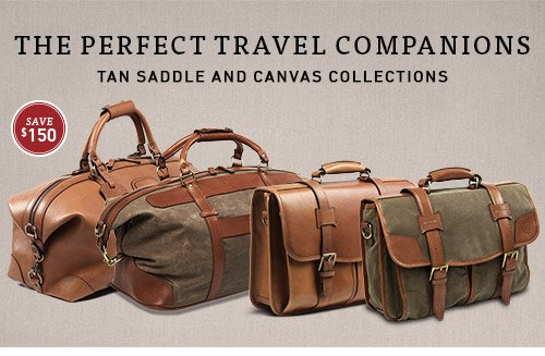 Save $150 on Tan Saddle & Canvas Collections