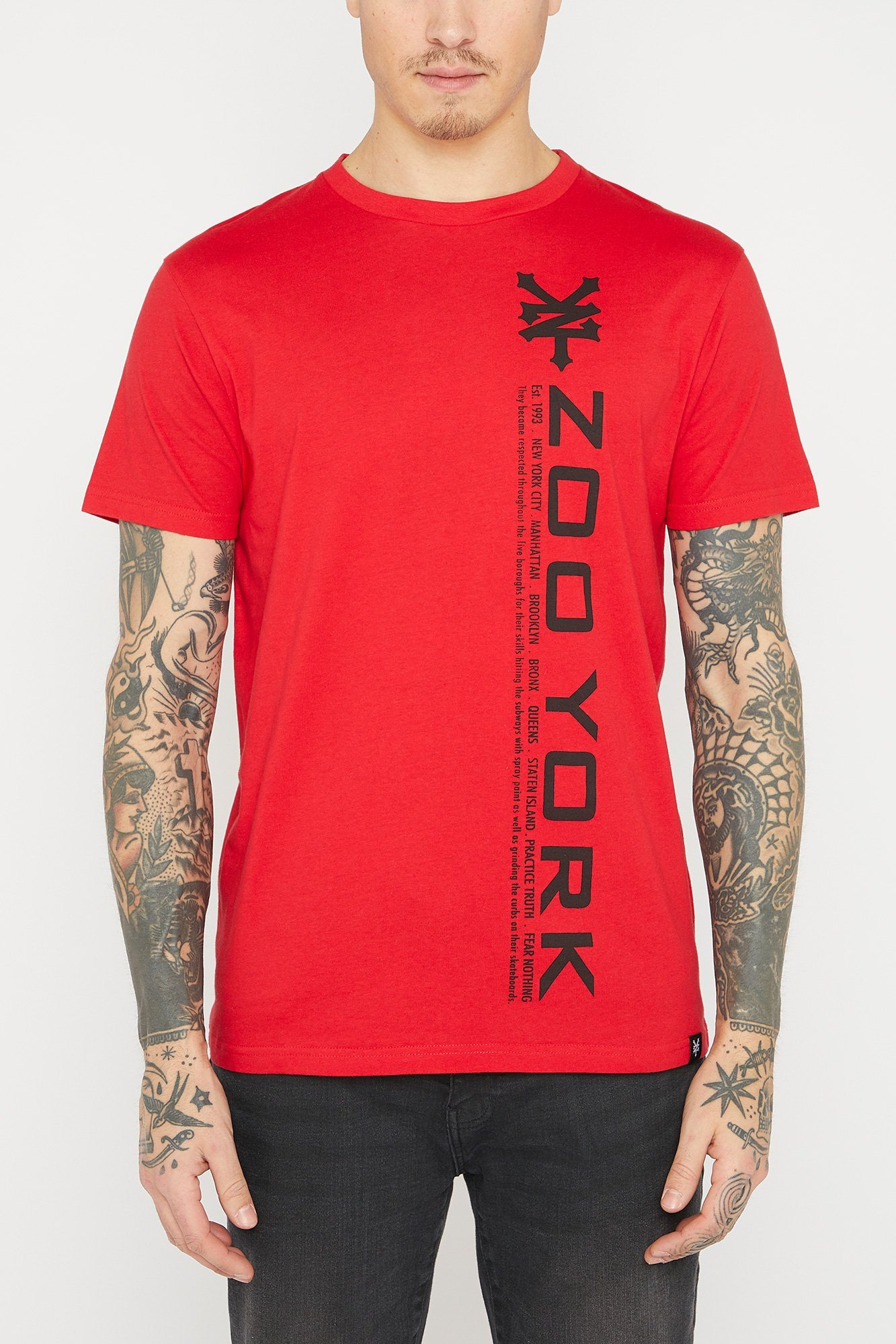 Image of Zoo York Mens Vertical Logo T-Shirt