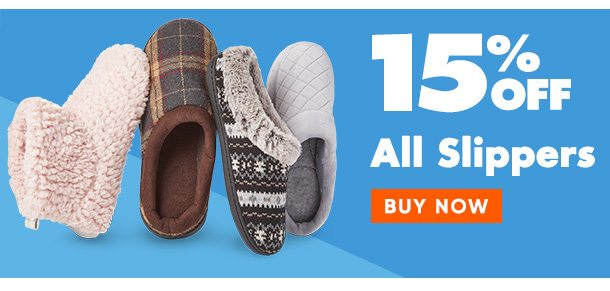15% off Slippers