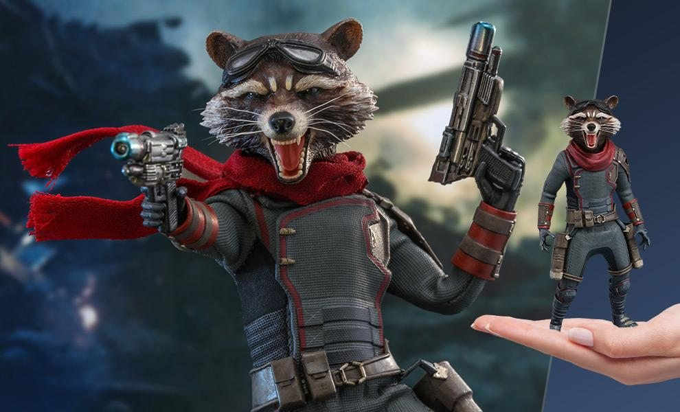 FREE U.S. Shipping Rocket Sixth Scale Figure by Hot Toys