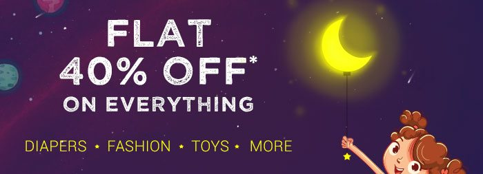 Flat 40% OFF* on Everything