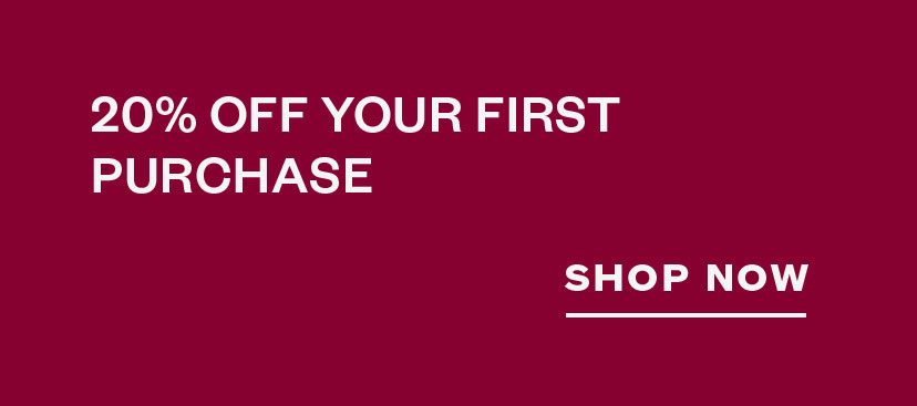 20% off your first purchase