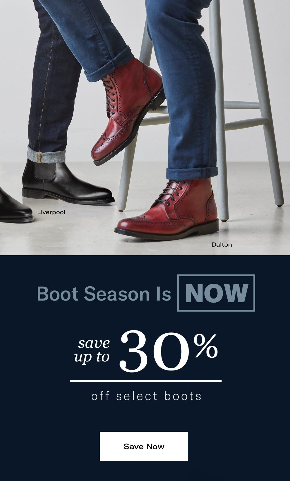 Save Up To 30% Off Select Boots