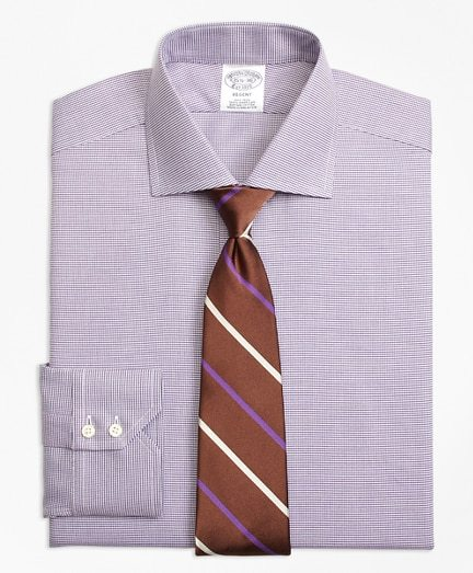 Regent Fitted Dress Shirt, Non-Iron Houndstooth