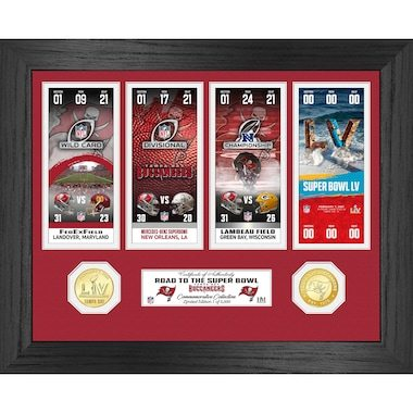 Tampa Bay Buccaneers Highland Mint Super Bowl LV Bound 13'' x 16'' Road to the Super Bowl Bronze Coin Ticket Photo Mint