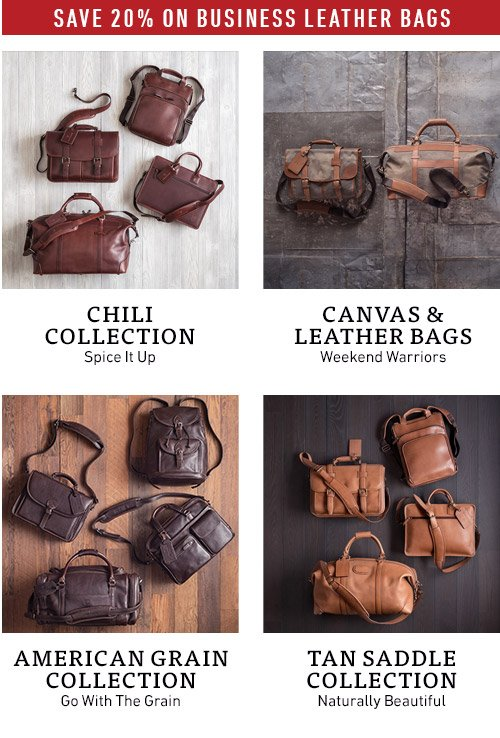 Save 20% on Business Leather Bags