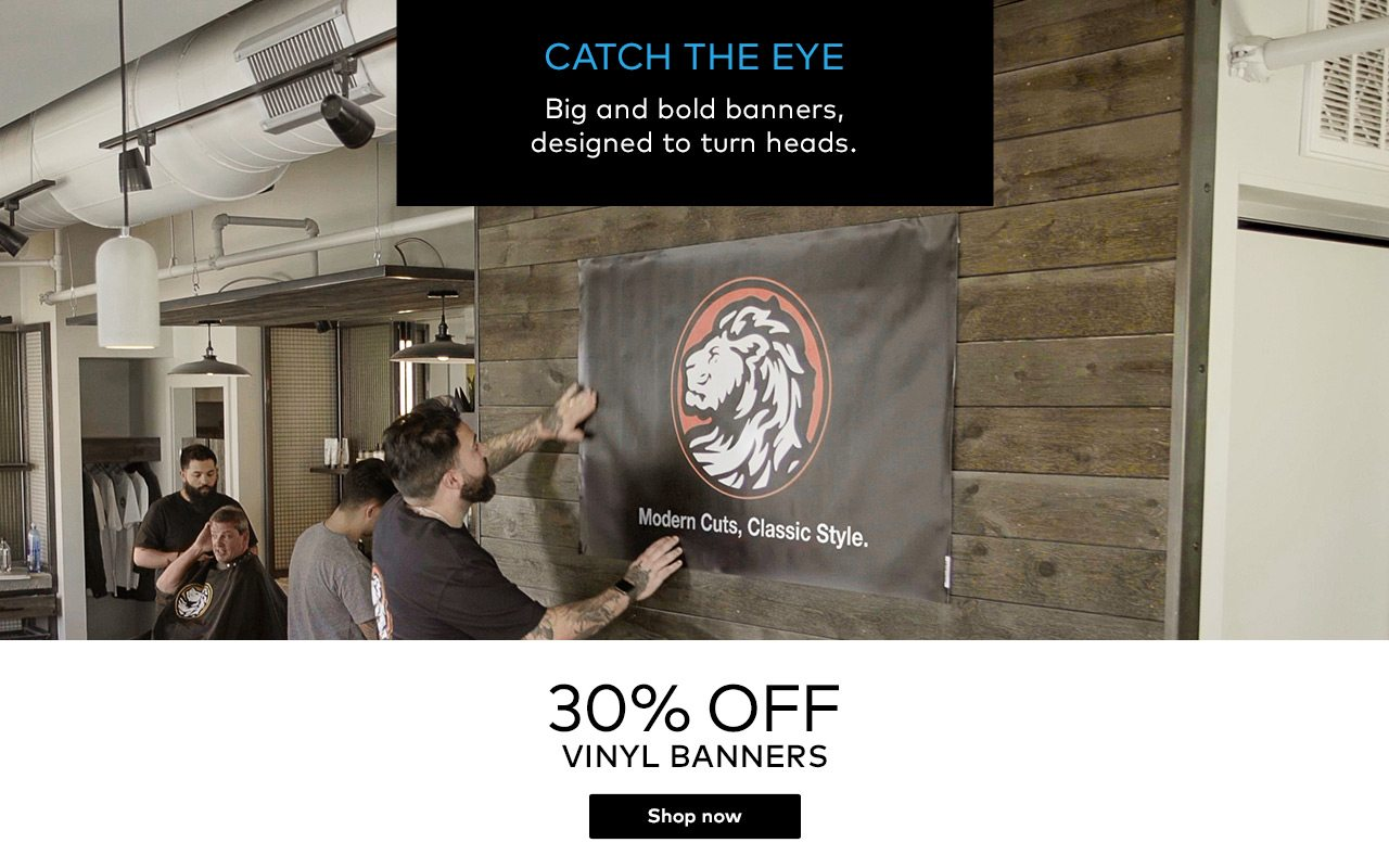 YAY! Vinyl banners are on sale NOW! - Vistaprint Email Archive