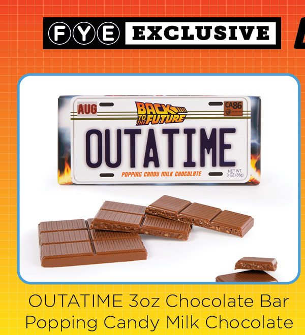 Outatime 3oz Chocolate Bar with Popping Candy