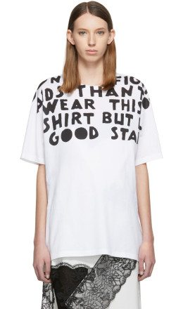 Maison Margiela - White AIDS Charity Print T-Shirt