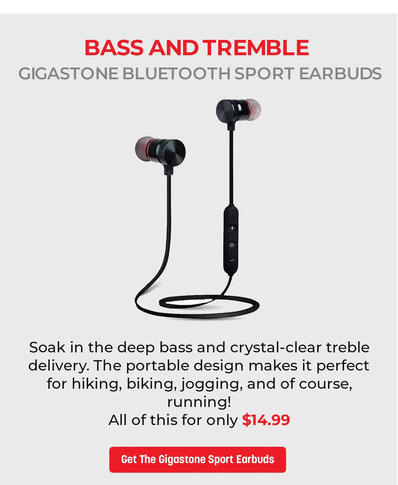 Gigastone Bluetooth Sport Earbuds with Magnetic Buds