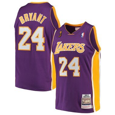 Kobe Bryant Los Angeles Lakers Mitchell & Ness 2008-09 Hardwood Classics Authentic Jersey – Purple