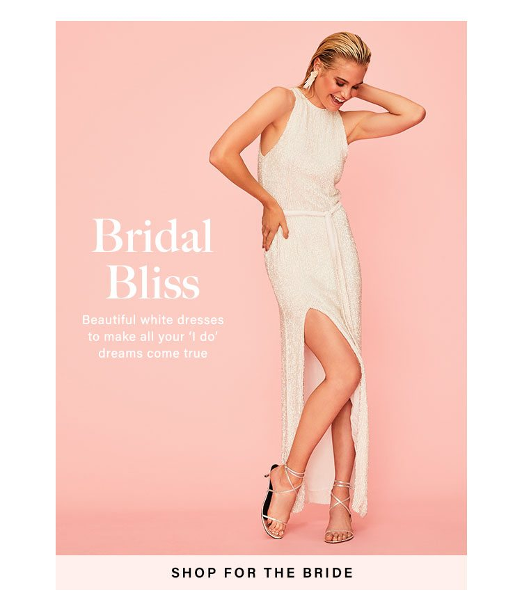 Bridal Bliss: Beautiful white dresses to make all your 'I do' dreams come true - Shop For the Bride