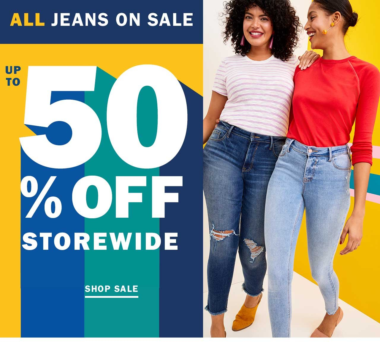 EXPIRATION ALERT! Up to 50% OFF storewide + ALL jeans on sale end ...