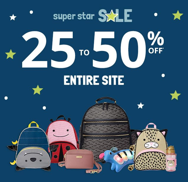 super star SALE | 25 to 50% OFF* ENTIRE SITE