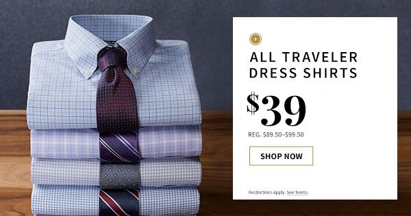 $39 All Traveler Dress Shirts