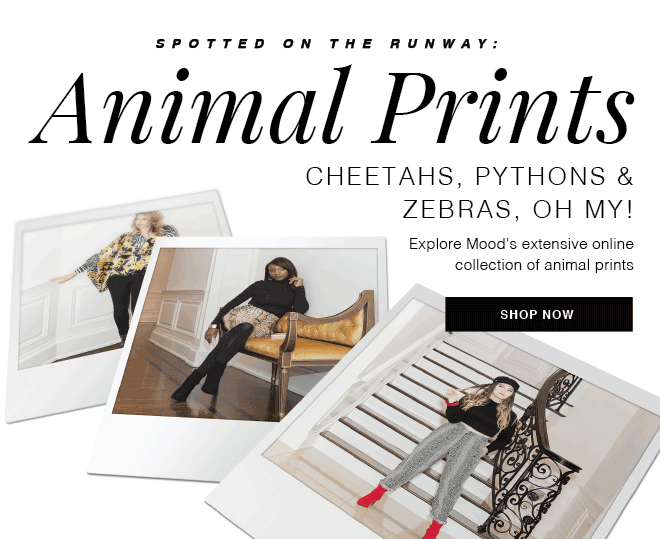 SPOTTED ON THE RUNWAY: ANIMAL PRINTS | SHOP NOW