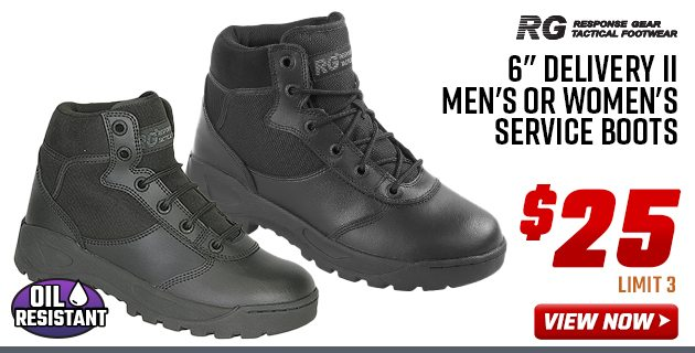 "Response Gear 6"" Delivery II Men's or Women's Service Boots"